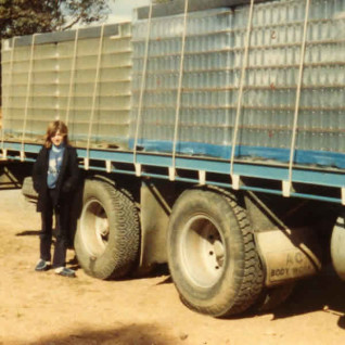 Narelle Smythe (nee Callaway) and a big shipment of glass jars