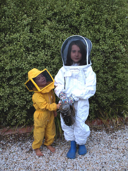 Teague & Joy Callaway - budding beekeepers'